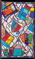 Leo amery vitrail art contemporain contemporary stained glass relief